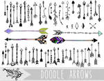 Doodle Arrows PNG and Vector Clipart