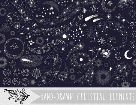 Celestial Doodles Vector and PNG Clipart