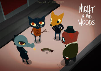 night in the woods - we found an arm by NoemieSzm
