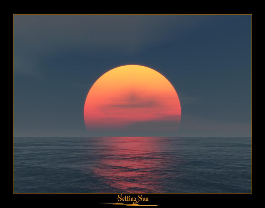 setting sun Setting sun.