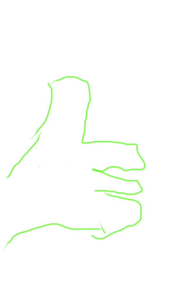 Jason's sketched hand