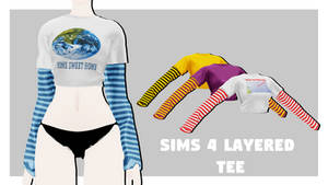 [MMDxDL] Sims 4 Layered Tee