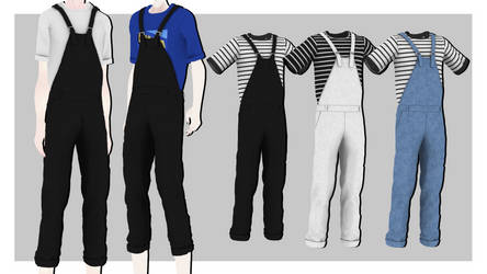 [MMDxDL] Sims 4 Male Suspender Overall