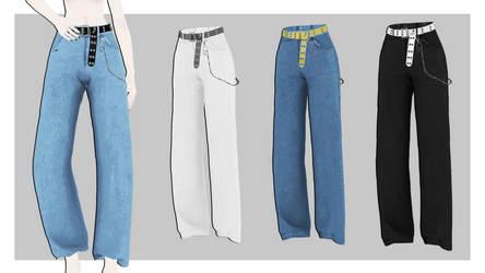 [MMDxDL] Sims 4 Bebe Pants