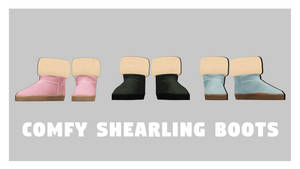 [MMDxDL] Sims 4 Comfy Shearling Boots