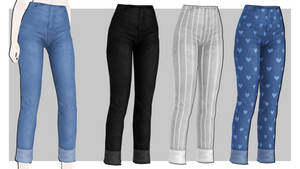 [MMDxDL] Sims 4 Love Me Right Cropped Skinnies
