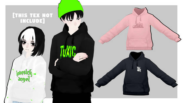 [MMDxDL] Sims 4 Hoodie