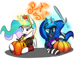 Pumpkin Spice Sisters Sticker by xXMarkingXx