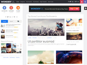 Wonderful Retina Responsive WordPress News, Blog