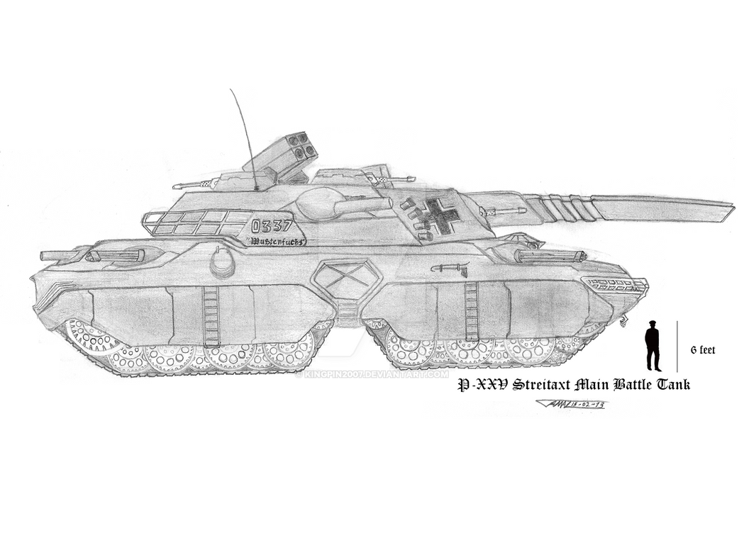 P-XXV Streitaxt MBT Unit 0337 'Wustenfuchs' by Kingpin2007
