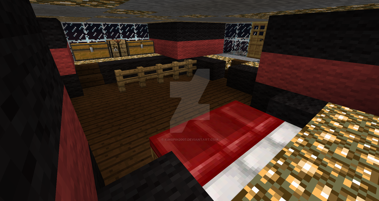 Castle master bedroom -  Castle Kp Master Bedroom Minecraft Fortress By Kingpin2007