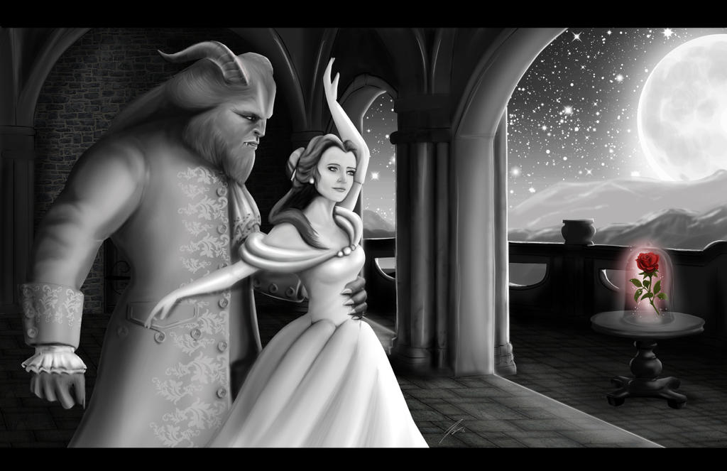 Belle and the Beast by KevinG-art