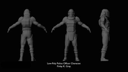 Low-Poly P model by Fin-Fin-Fin-Fin