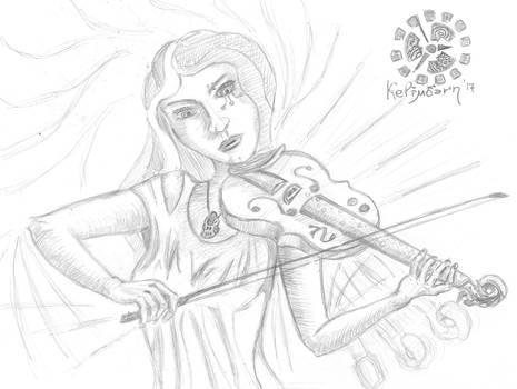 White Whistle Violinist
