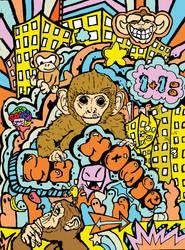 monkey my homie by qwnzxmsj