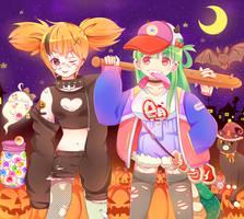[CE] Halloween Mischief Duo by ku-rou