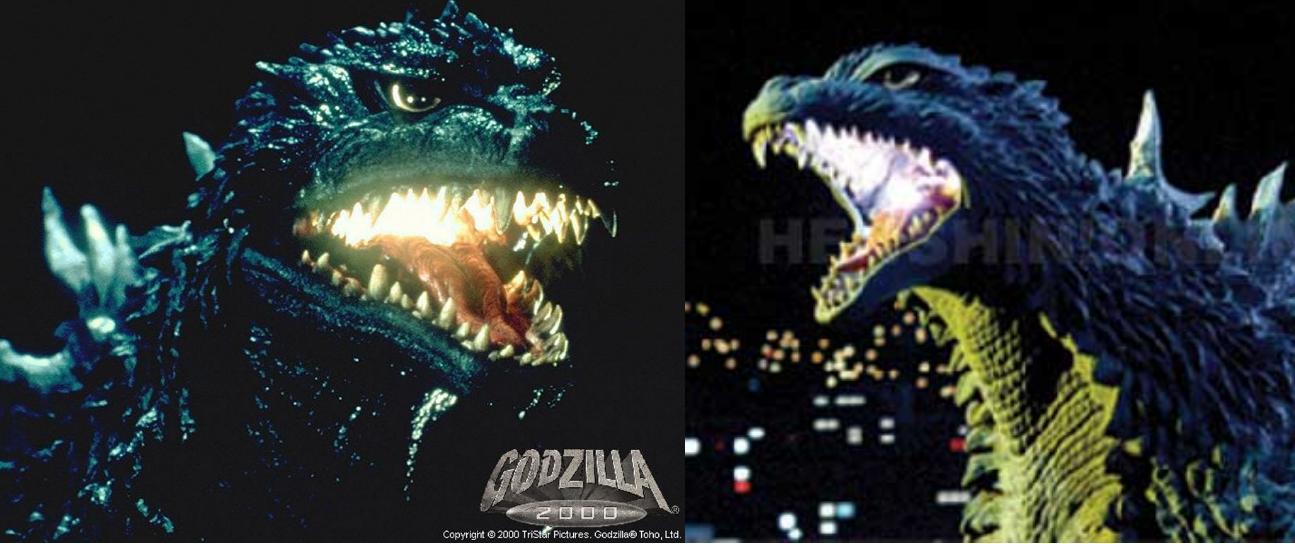 Godzilla 2000 vs Godzilla 2003 by TheSpiderAdventurer on ...