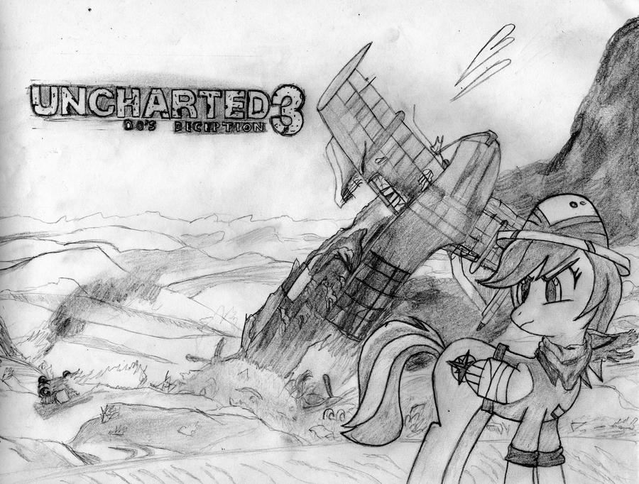 Uncharted 3 Do's Deception Sketch by BaroqueDavid