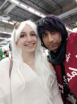 Cosplay duo White snow fairy
