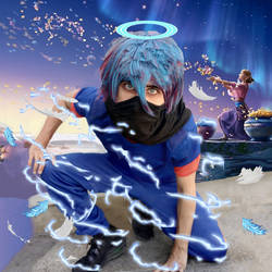 Blue llightning cosplay