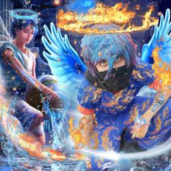 Fire angel cosplay