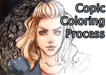 Copic Coloring Process (+ Crackle Technique) by Doodleholic