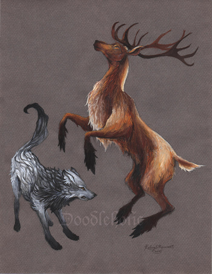Wolf and Stag