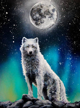 White Wolf on the Hill