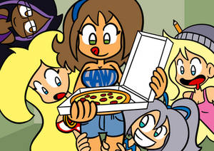 Natsa eats a Pizza!