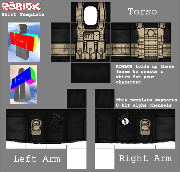 Black And Red Army Roblox Uniform Template Pictures to Pin ...