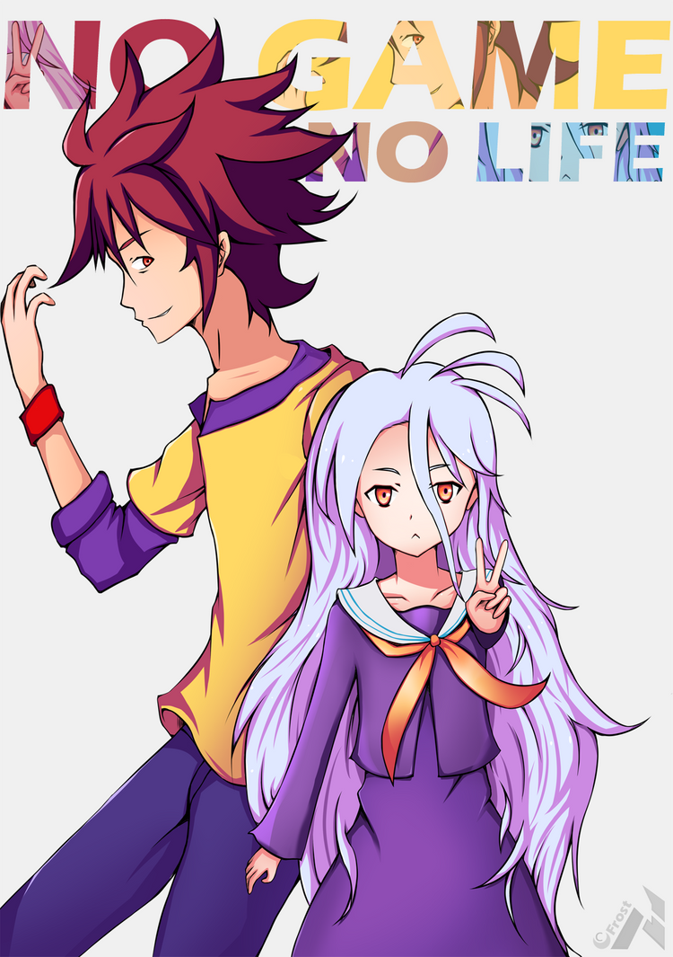 no game no life sora and shiro by neufrost on deviantart