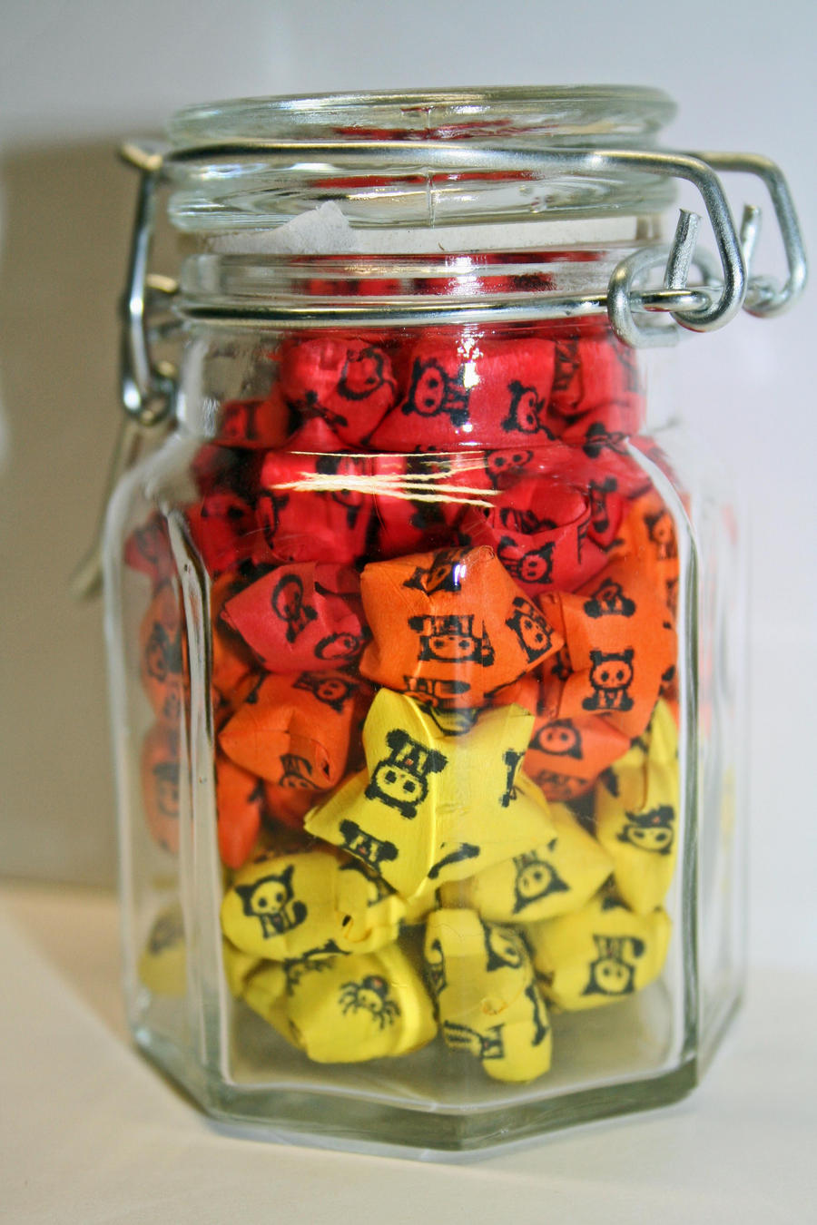 Fire Colour Jar Of Lucky Stars By Summer Days Grief