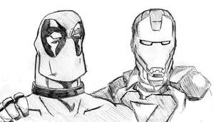 Iron Man and Deadpool by Tom-the-S