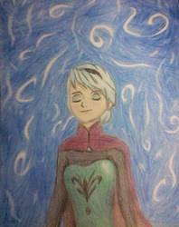 Elsa - Frozen first art! by ladyjessien