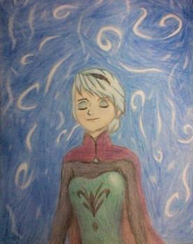 Elsa - Frozen first art!