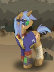 Lasersight my Fallout Equestria OC by ladyjessien