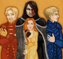 Jaime, Sandor, Sansa and Brienne