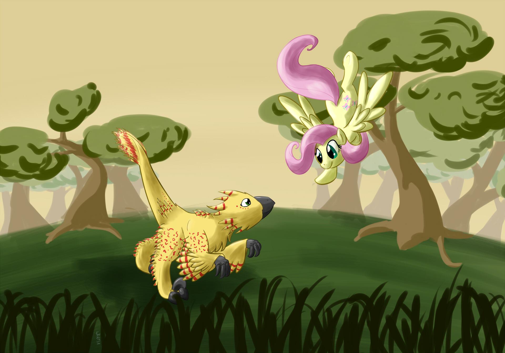 Fluttershy's new friend by Whatsapokemon