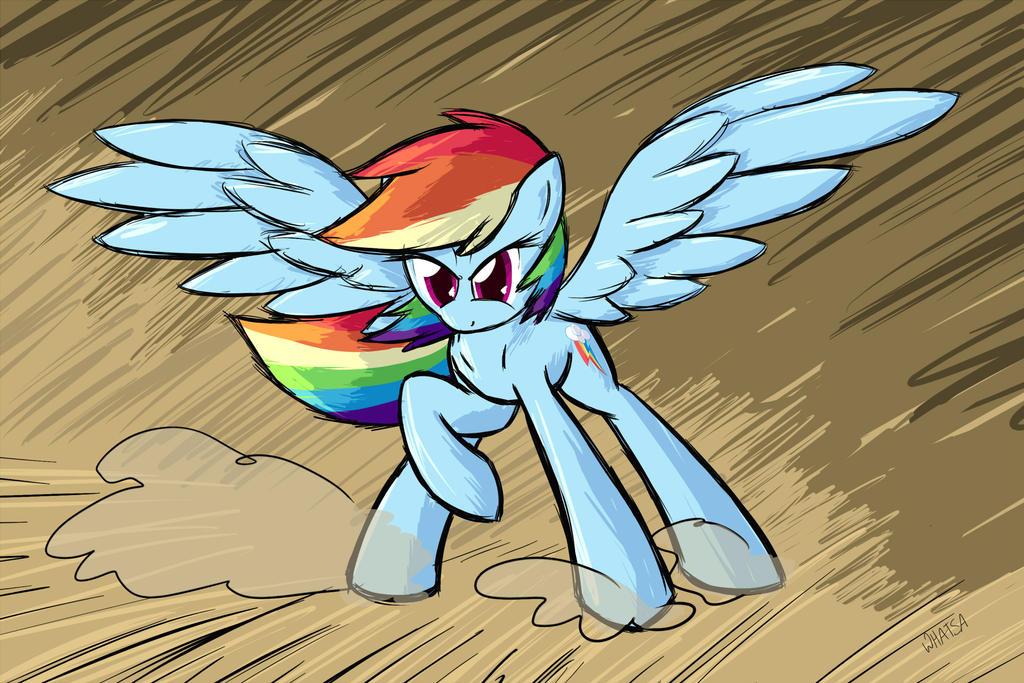 It's Rainbow Dash! by Whatsapokemon