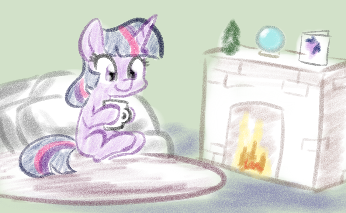 Cocoa by the fire - NATGIV Day 12 v2 by Whatsapokemon