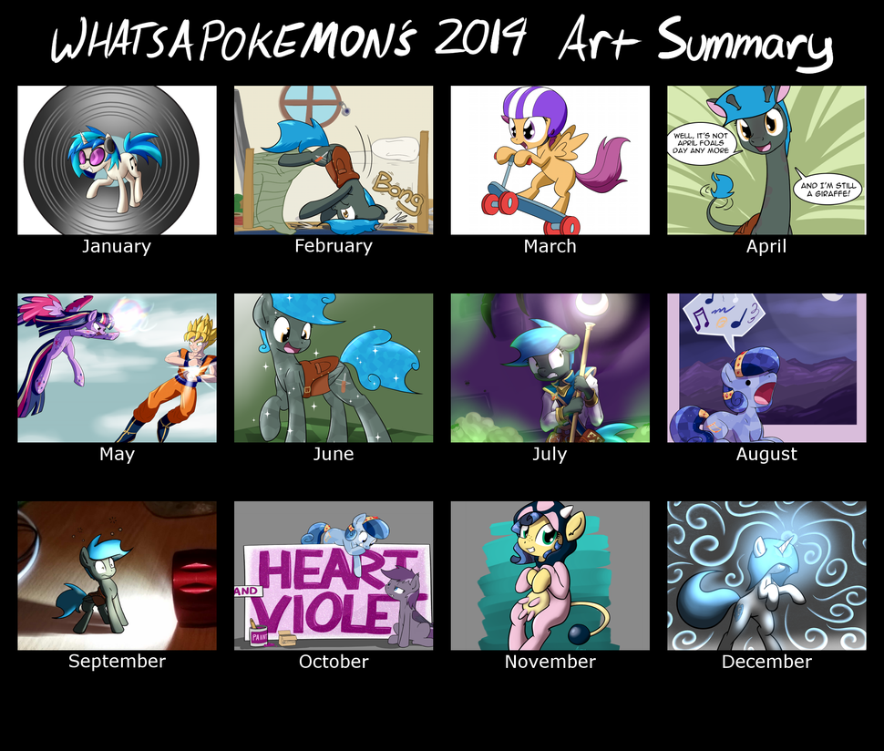 Whatsapokemon's Art summary for 2014 by Whatsapokemon