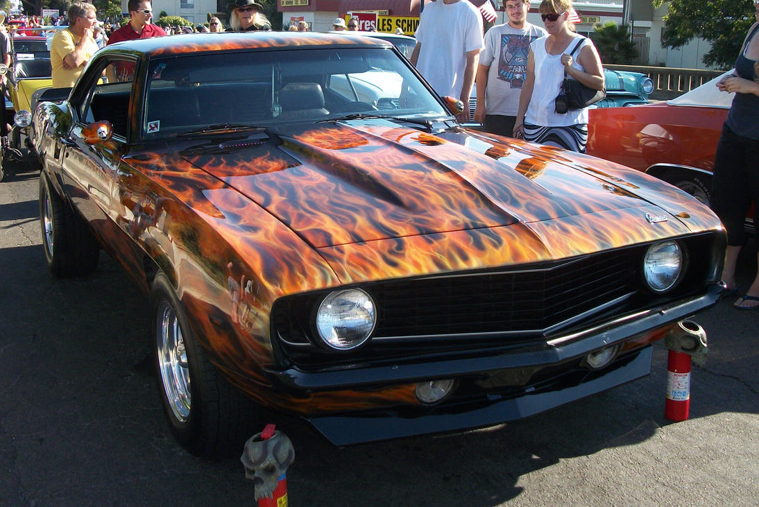 1969 Camaro Ss With Flames By Sageraventree On Deviantart