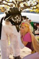 Wolf Link nd Zelda by Alinchen-Tenny