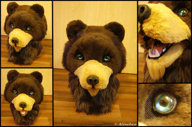 Bear Fursuit Head by Alinchen-Tenny