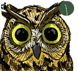 Iscribble Owl by RabidPuppy101