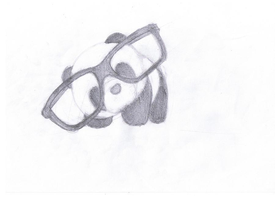 Panda with glasses by nheckscar