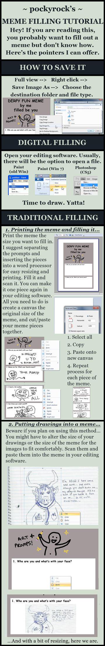 How to fill a meme (Tutorial) by pockyrock