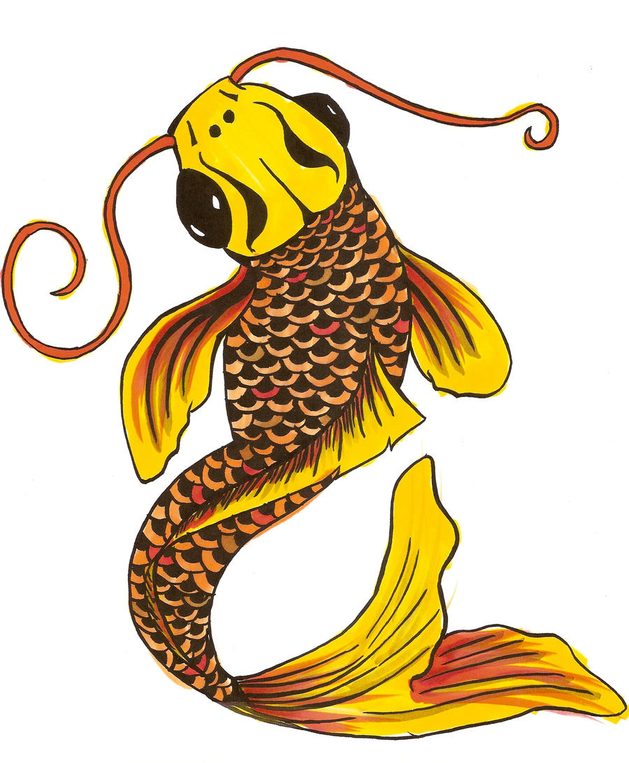Gold koi fish by blackphoenix2 on deviantart for Black and gold koi fish