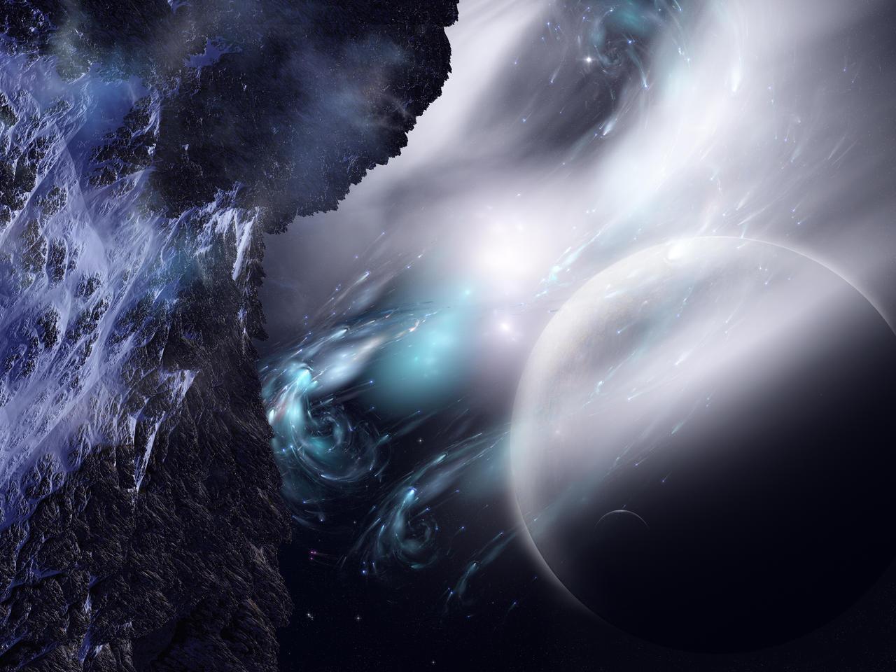 Mt. Hood Moon Cygnus Sector by Casperium