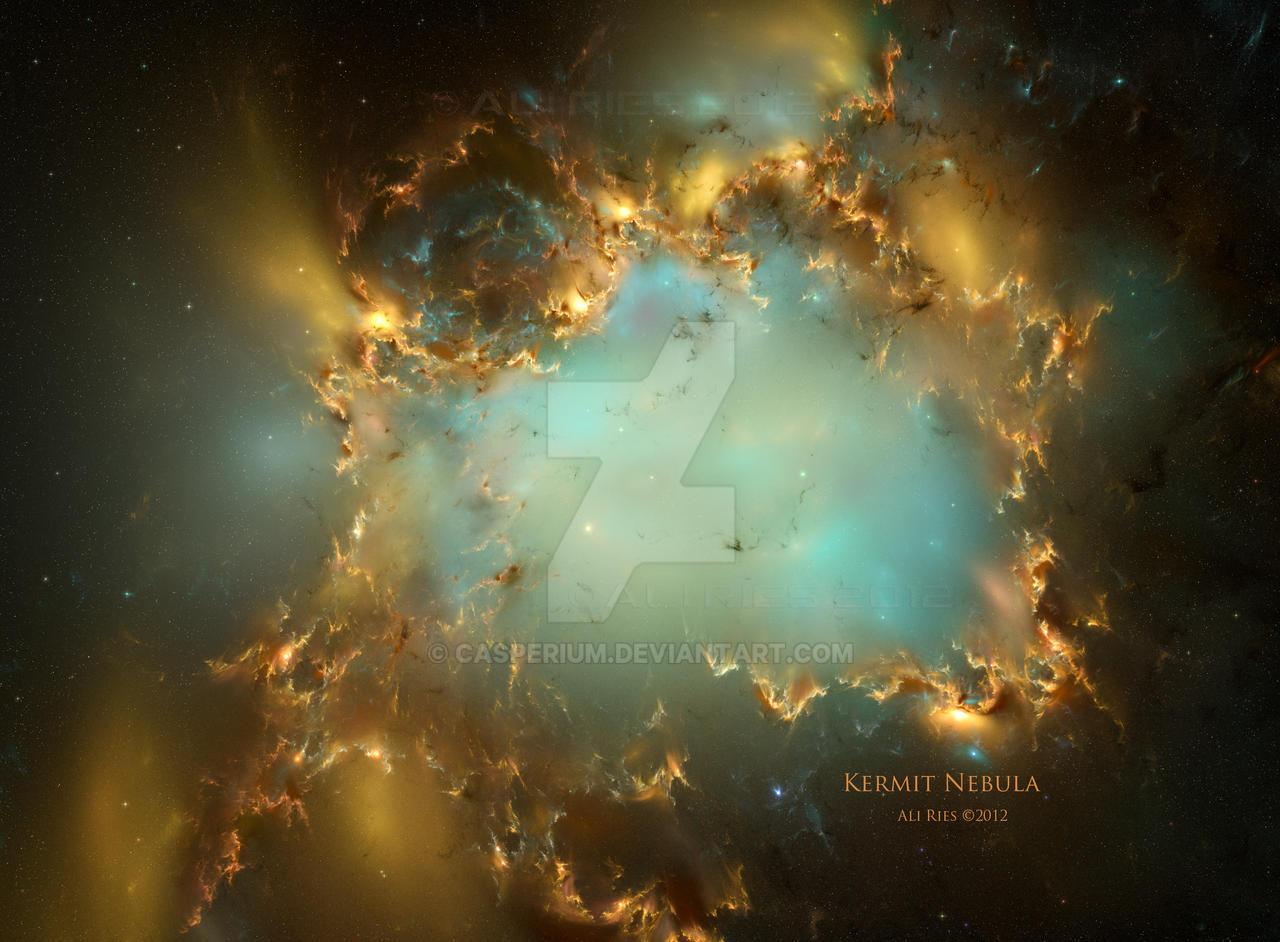 Kermit Nebula by Casperium